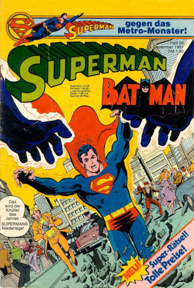 Cover for Superman (Egmont Ehapa, 1966 series) #26/1981