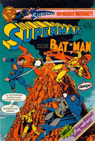 Cover for Superman (Egmont Ehapa, 1966 series) #7/1982