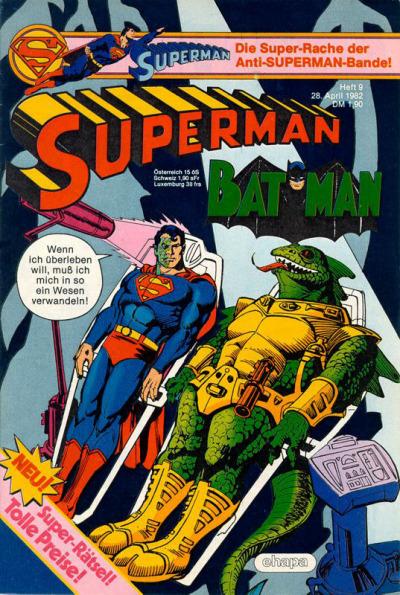 Cover for Superman (Egmont Ehapa, 1966 series) #9/1982