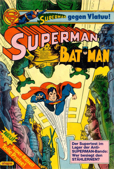 Cover for Superman (Egmont Ehapa, 1966 series) #10/1982