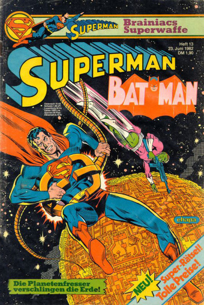Cover for Superman (Egmont Ehapa, 1966 series) #13/1982