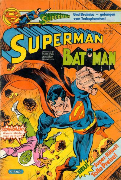 Cover for Superman (Egmont Ehapa, 1966 series) #14/1982