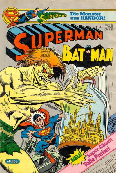 Cover for Superman (Egmont Ehapa, 1966 series) #17/1982