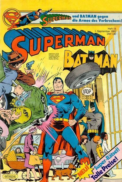 Cover for Superman (Egmont Ehapa, 1966 series) #18/1982
