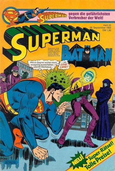 Cover for Superman (Egmont Ehapa, 1966 series) #20/1982