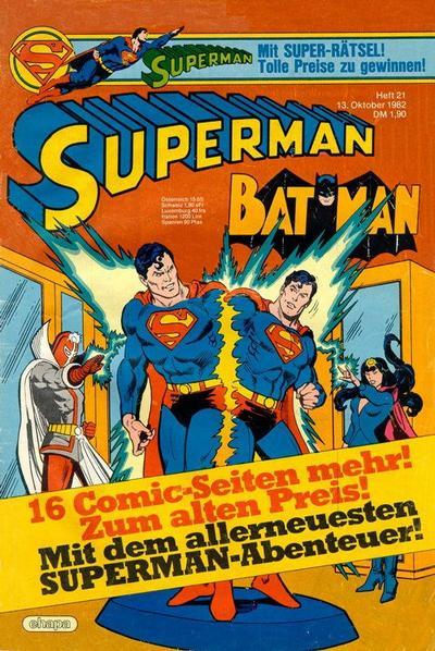 Cover for Superman (Egmont Ehapa, 1966 series) #21/1982