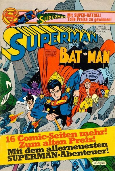 Cover for Superman (Egmont Ehapa, 1966 series) #22/1982