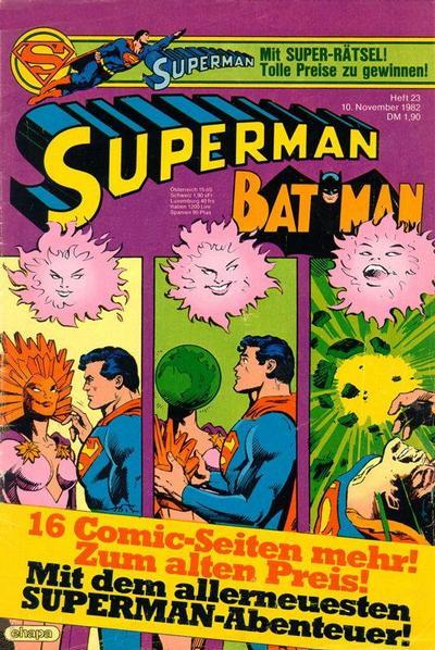 Cover for Superman (Egmont Ehapa, 1966 series) #23/1982