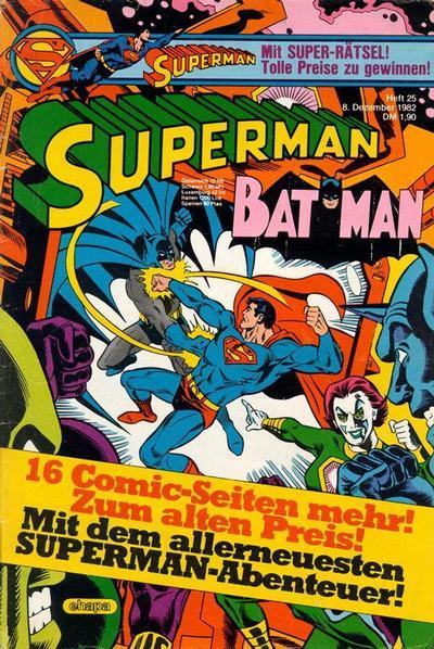Cover for Superman (Egmont Ehapa, 1966 series) #25/1982