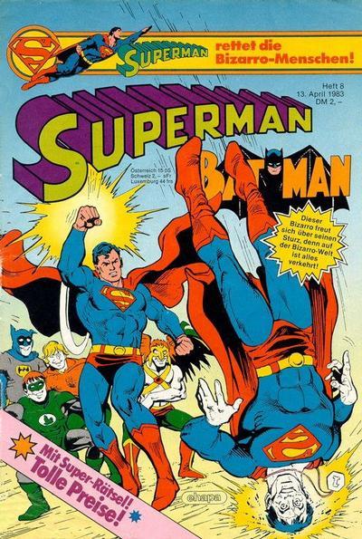 Cover for Superman (Egmont Ehapa, 1966 series) #8/1983
