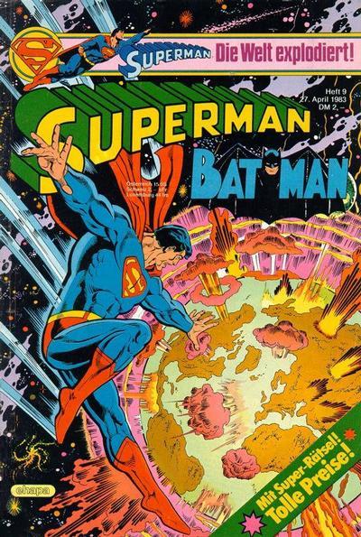 Cover for Superman (Egmont Ehapa, 1966 series) #9/1983