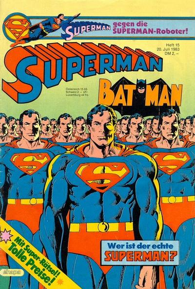 Cover for Superman (Egmont Ehapa, 1966 series) #15/1983