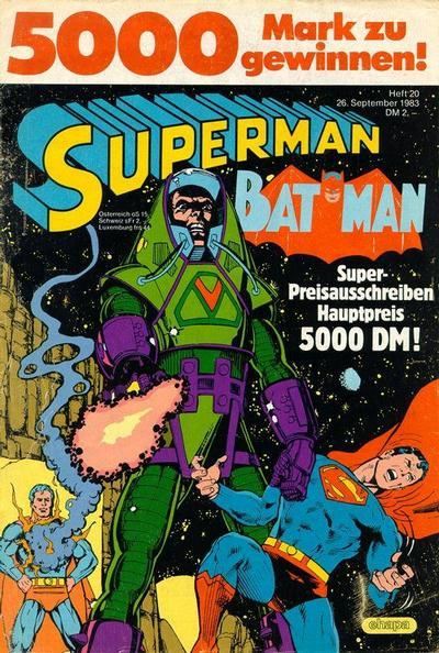 Cover for Superman (Egmont Ehapa, 1966 series) #20/1983