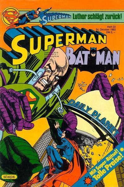 Cover for Superman (Egmont Ehapa, 1966 series) #22/1983