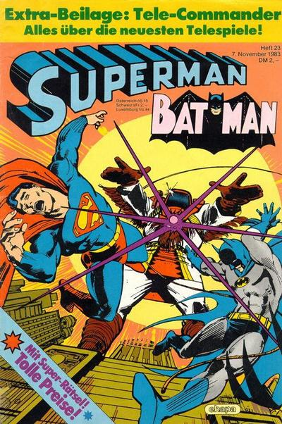 Cover for Superman (Egmont Ehapa, 1966 series) #23/1983