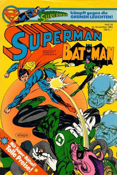 Cover for Superman (Egmont Ehapa, 1966 series) #24/1983