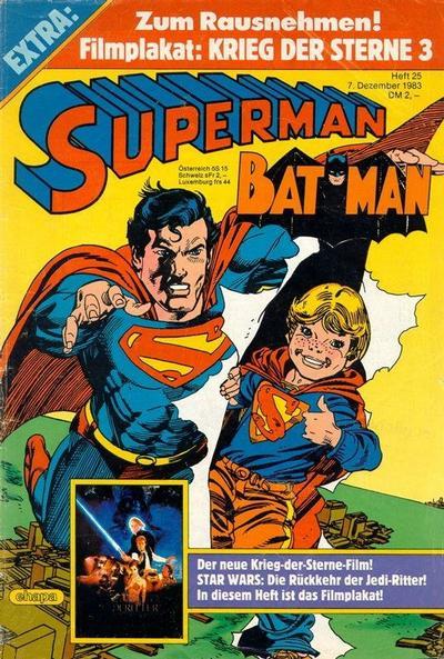 Cover for Superman (Egmont Ehapa, 1966 series) #25/1983