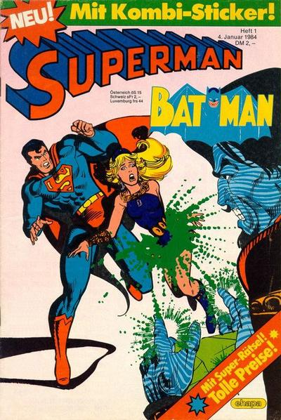 Cover for Superman (Egmont Ehapa, 1966 series) #1/1984