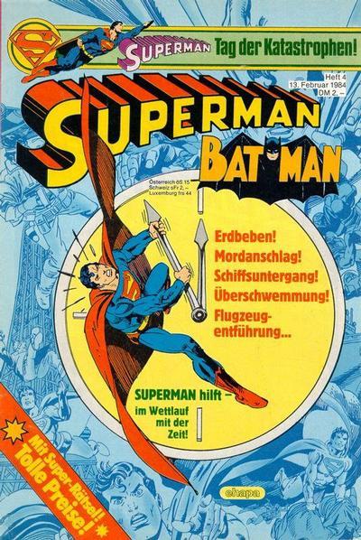Cover for Superman (Egmont Ehapa, 1966 series) #4/1984
