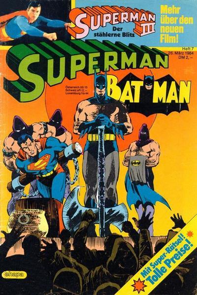 Cover for Superman (Egmont Ehapa, 1966 series) #7/1984