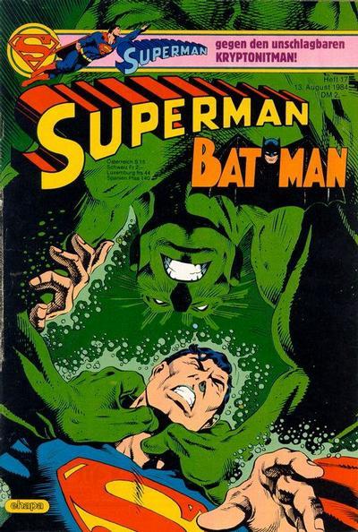 Cover for Superman (Egmont Ehapa, 1966 series) #17/1984