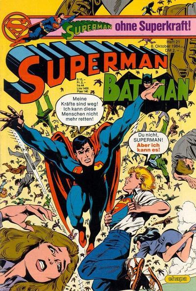 Cover for Superman (Egmont Ehapa, 1966 series) #21/1984