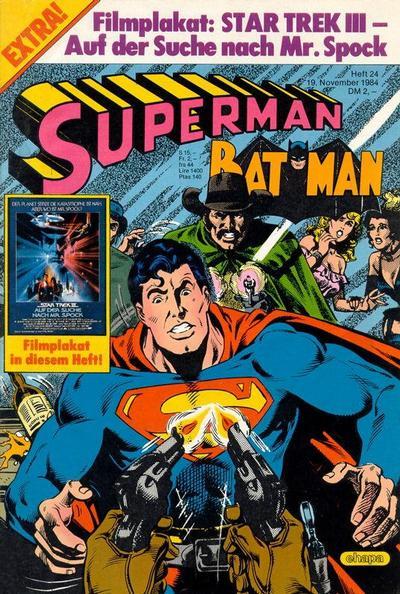 Cover for Superman (Egmont Ehapa, 1966 series) #24/1984