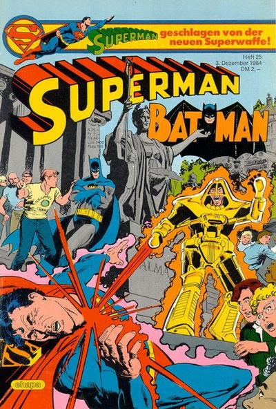 Cover for Superman (Egmont Ehapa, 1966 series) #25/1984