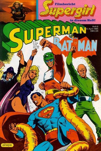 Cover for Superman (Egmont Ehapa, 1966 series) #8/1985