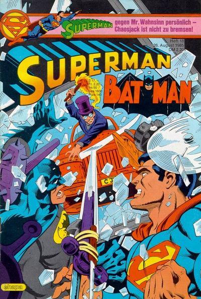 Cover for Superman (Egmont Ehapa, 1966 series) #18/1985