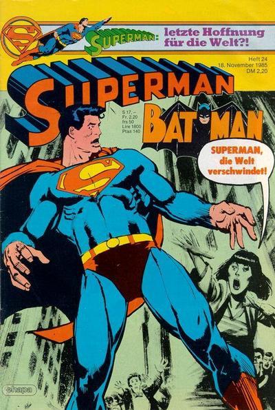 Cover for Superman (Egmont Ehapa, 1966 series) #24/1985