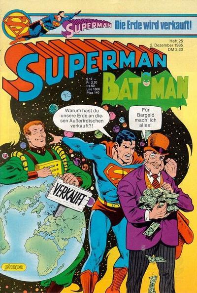 Cover for Superman (Egmont Ehapa, 1966 series) #25/1985