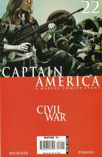 Cover Thumbnail for Captain America (Marvel, 2005 series) #22