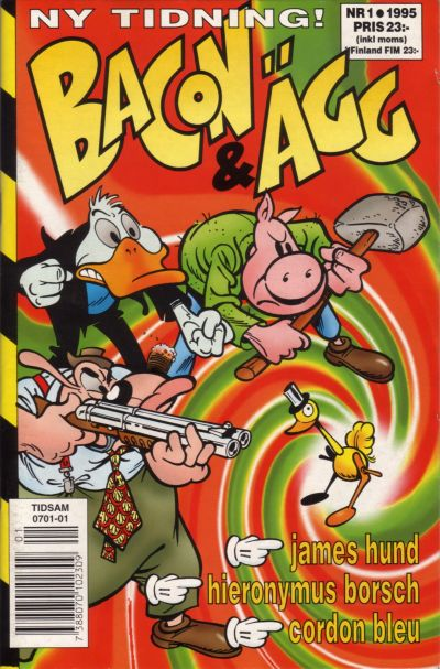 Cover for Bacon & Ägg (Semic, 1995 series) #1/1995