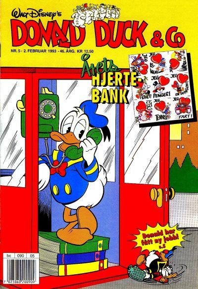 Cover for Donald Duck & Co (Hjemmet / Egmont, 1948 series) #5/1993