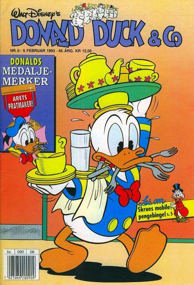 Cover for Donald Duck & Co (Hjemmet / Egmont, 1948 series) #6/1993