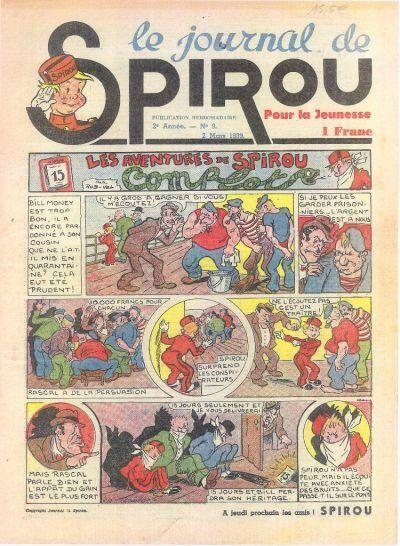 Cover for Le Journal de Spirou (Dupuis, 1938 series) #9/1939