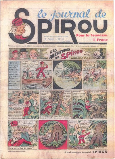 Cover for Le Journal de Spirou (Dupuis, 1938 series) #12/1939