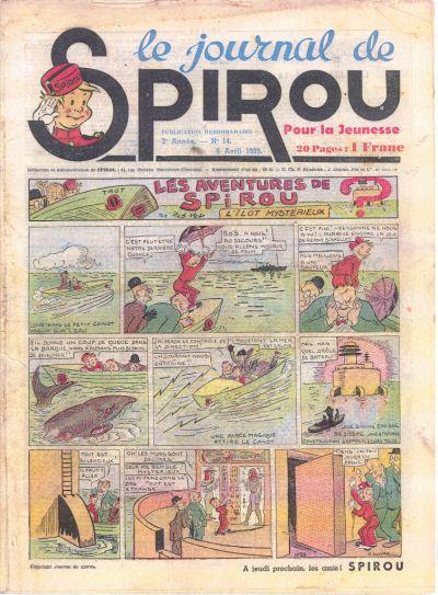 Cover for Le Journal de Spirou (Dupuis, 1938 series) #14/1939