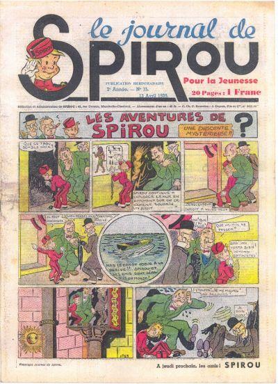 Cover for Le Journal de Spirou (Dupuis, 1938 series) #15/1939