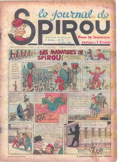 Cover for Le Journal de Spirou (Dupuis, 1938 series) #19/1939