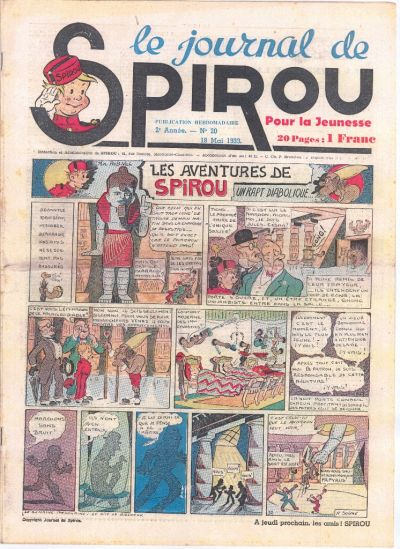 Cover for Le Journal de Spirou (Dupuis, 1938 series) #20/1939