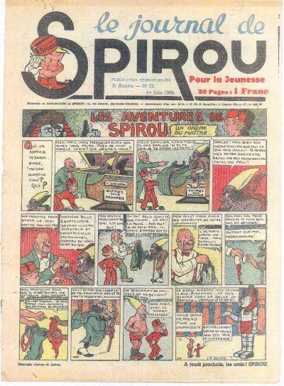 Cover for Le Journal de Spirou (Dupuis, 1938 series) #22/1939
