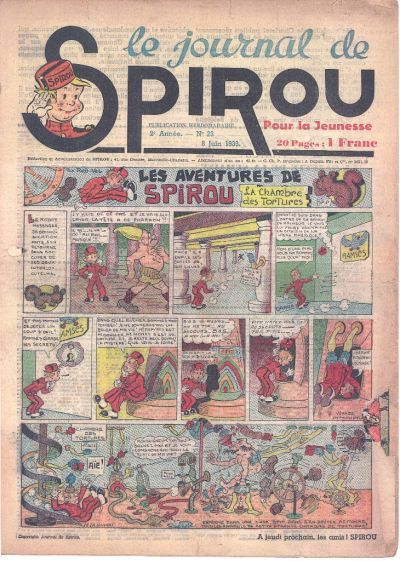 Cover for Le Journal de Spirou (Dupuis, 1938 series) #23/1939