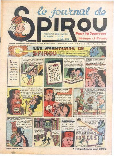 Cover for Le Journal de Spirou (Dupuis, 1938 series) #26/1939