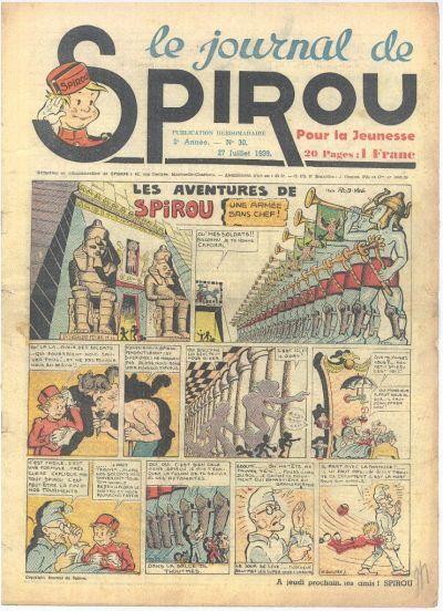 Cover for Le Journal de Spirou (Dupuis, 1938 series) #30/1939