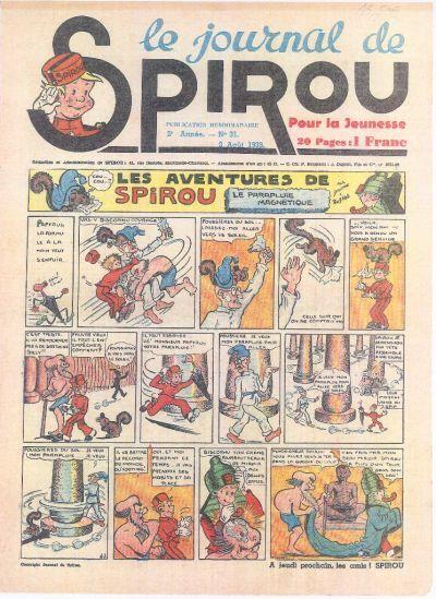 Cover for Le Journal de Spirou (Dupuis, 1938 series) #31/1939