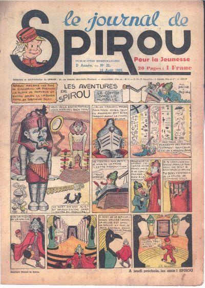 Cover for Le Journal de Spirou (Dupuis, 1938 series) #32/1939