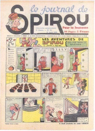 Cover for Le Journal de Spirou (Dupuis, 1938 series) #33/1939