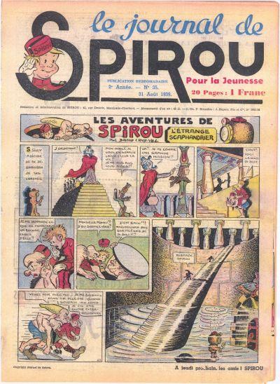 Cover for Le Journal de Spirou (Dupuis, 1938 series) #35/1939